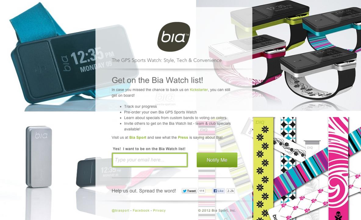 Bia Sport: The GPS Sports Watch