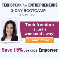 Special discount for Techspeak for Entrepreneurs Bootcamp in 13-cities