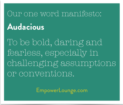 definition of audacious